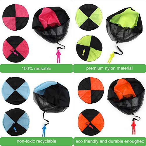Camlinbo Parachute Toy-8 Pack Tangle Free Throwing Hand Throw Soldiers Parachute Man, Outdoor Children's Flying Toys for Kids Boys Girls Toddler No Battery nor Assembly Required by Camlinbo (Image #6)