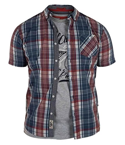 D555 Herren Vincent Regular Kurze Ärmel Shirt & T-Shirt Pack