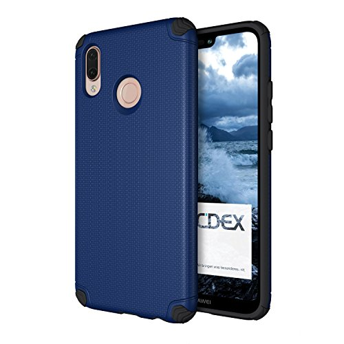 doupi Ultra Armor Case Compatible with Huawei P20 Lite, Design Protector Slim Profile Bumper Protective Cover, Blue