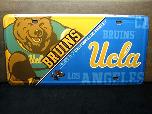 Yilooom NCAA UCLA Bruins Metal Car License Plate University of California Los Angeles Auto Car Novelty Accessories License Plate Art