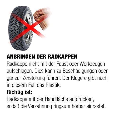 """Fussmatten-Deluxe Radkappen Radzierblenden 4 St/ück im Set 16 Zoll 16/"""" R16 f/ür Stahlfelgen vieler Fabrikate Bicolor Schwarz-Silber"""