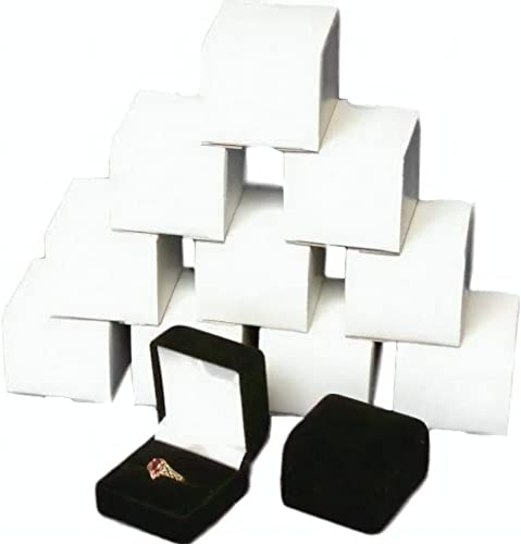 Black Paper Package Case Ring Necklace Earrings Bracelet Jewelry Gift Box~PL
