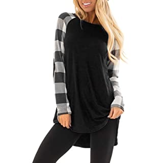 3198ce969ccfcc Women's Tops Toamen T-Shirt Sale 2019 New Ladies Casual Long Sleeve Stripe  Splicing Loose