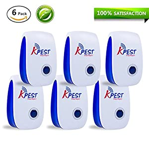 Kpest Ultrasonic Pest Repeller, Electronic Plug In repellent indoor for insects, Mosquitoes, Mice, Spiders, Ant, Rats, Roaches, bugs, Non-toxic Eco-Friendly, Humans & Pets Safe