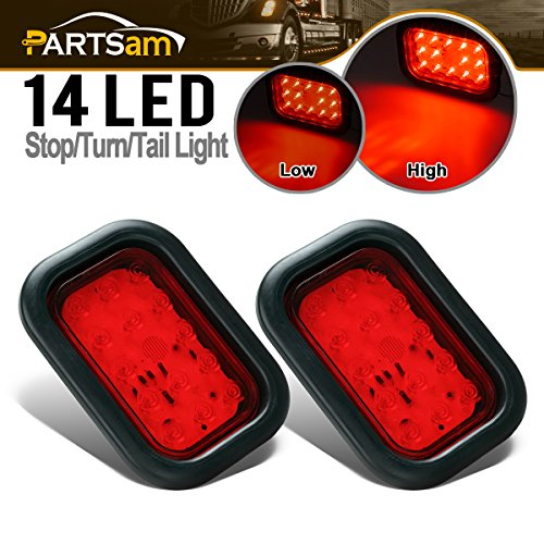 Partsam 2Pcs Universal Red 5