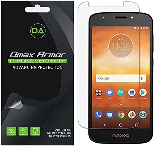 [6-Pack] Dmax Armor for Motorola Moto E5 Play Screen Protector, Anti-Bubble High Definition Clear Shield