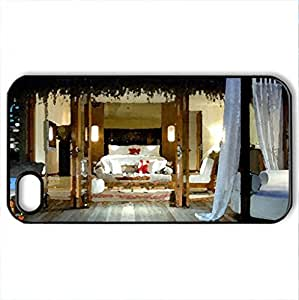Beautiful place for Relax and dreams - Case Cover for iPhone 4 and 4s (Modern Series, Watercolor style, Black)