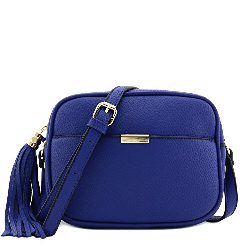 Square Tassel Crossbody Bag Royal Blue (Cross Body Bag Blue)