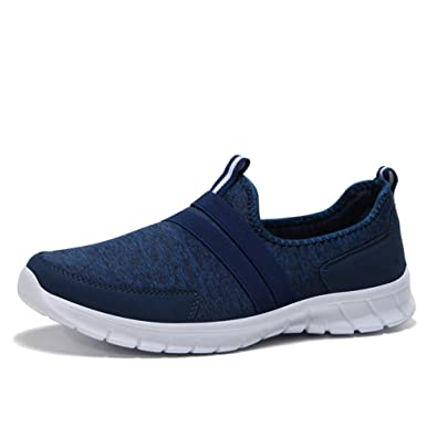 311f82f8c53 HQUEC Womens Lightweight Mesh Trainers Slip On Gym Sports Walking Running  Shoes