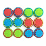 Pack of 12pcs J&H Thumb Grip Thumbstick Noctilucent Sets for PS2, PS3, PS4, Xbox 360, Xbox One Controller [video game