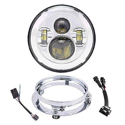 51engI5iq L._SX425_ amazon com 7 inch led headlight with mounting bracket h4 h9 h11