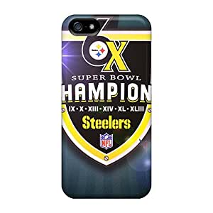 Durable Case For The Iphone 5/5s- Eco-friendly Retail Packaging(pittsburgh Steelers)