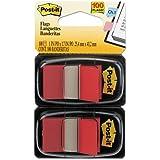 Tape Flags Vermelho 100 Folhas Com 2 Blocos 25X43