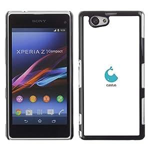 Be Good Phone Accessory // Dura Cáscara cubierta Protectora Caso Carcasa Funda de Protección para Sony Xperia Z1 Compact D5503 // blue Whale logo