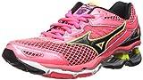 Mizuno Women's Wave Creation 18 Running Shoe, Diva Pink-Black-Safety Yellow, 8 B US