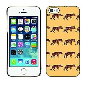 PatternViking PC Polycarbonate Aluminium Back Case Cover Apple iPhone 5 / 5S ( cute tiger )