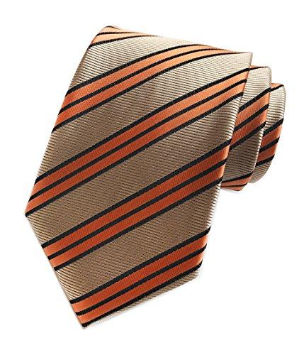 Men's Orange Bronze Neckties Silk For Men Suit Fitness Dating Fashion prom Ties (Tango Neckties)