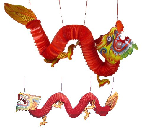 Fun Express Chinese Paper Dragon Decoration - 1 (Dragon Decorations)