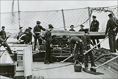 24x36 Poster; A Nine-Inch Dahlgren Gun On Aboard A U.S. Navy