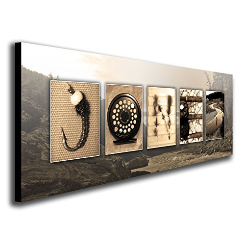 Good Personalized Fly Fishing Name Art   Perfect For The Fly Fisher, Man Cave,  Office, Or Boys Room! (Block Mount   9.5 X 26)