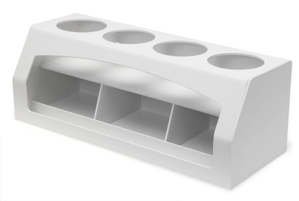 Clearform ML13226 ABS Plastic Quad Wash-Bottle Holder with Storage