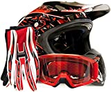 Adult Offroad Helmet Goggles Gloves Gear