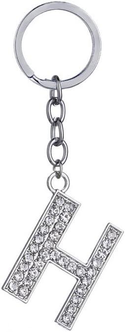 A Gespout Porte-Cl/és Strass Lettre Alliage Pendentif Accessoires Cadeau danniversaire D/écoration de Sac /à Dos