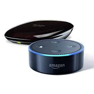 Echo Dot (2nd Generation)- Black + Logitech Harmony Hub, Works with Alexa