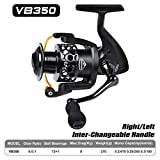 Iusun Fishing Reels Full Metal Spinning Reel Casting Reels 3VB250-VB550 Saltwater Freshwater Gapless Wheel Gear Light Weight Ultra Smooth Powerful Low Profile Baitcasting (B)