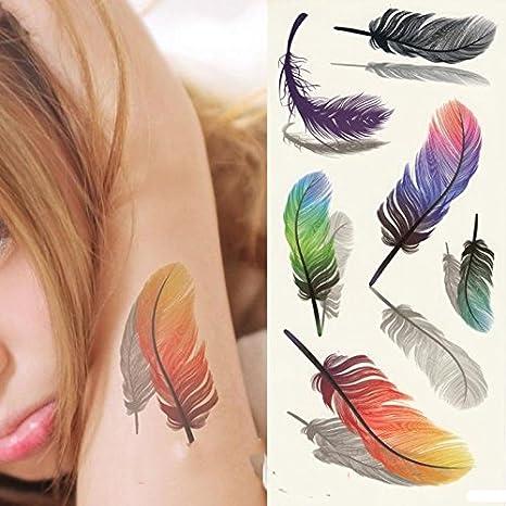 soxid (TM) 2pc pegatinas de mujer tatuaje falso Temporal Tatuajes ...