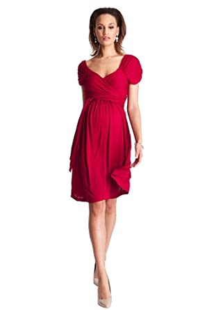 variety design reliable quality wide range Seraphine Roxette Maternity Wrap Dress - Red -: Amazon.co.uk ...