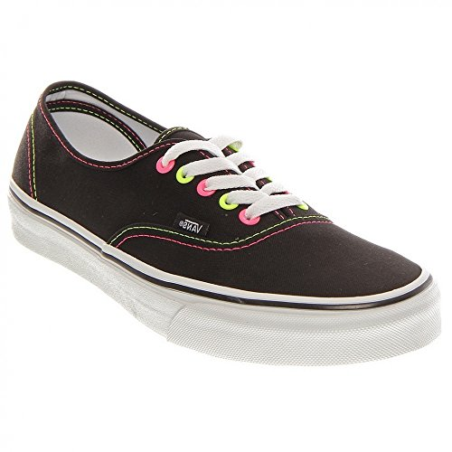 Vans U Authentic, Zapatillas De Deporte Unisex Negro (Black/Pink/Yellow)