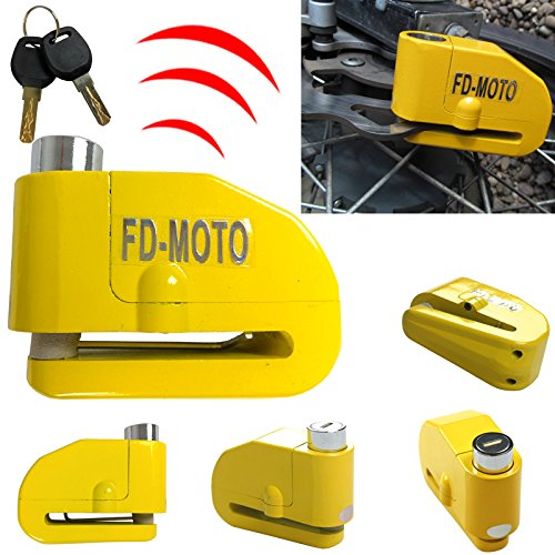 Leopard FD-MOTO LK603 Motorcycle Motorbike Bike Bicycle Alarm Disc Lock 110DB Touch Global Ltd