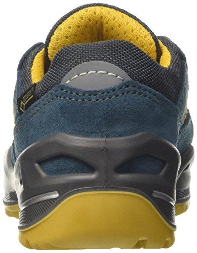 Lowa - Zapatillas de cuero, tela para niño azul azul Azul (Petrol/gelb)