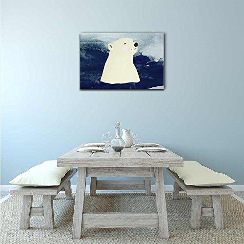 Hand Drawing Style Animal Polar Bear Swimming in The Sea