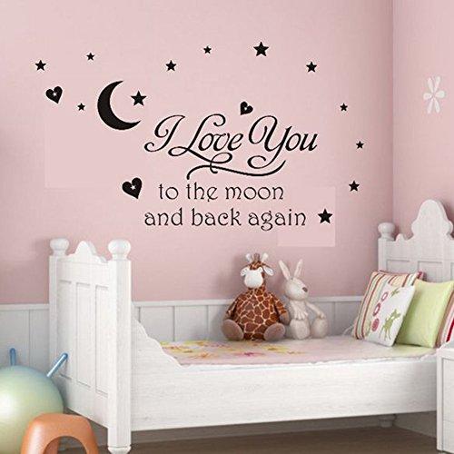 Soledi%C2%AE Black Sticker Letters Bedroom