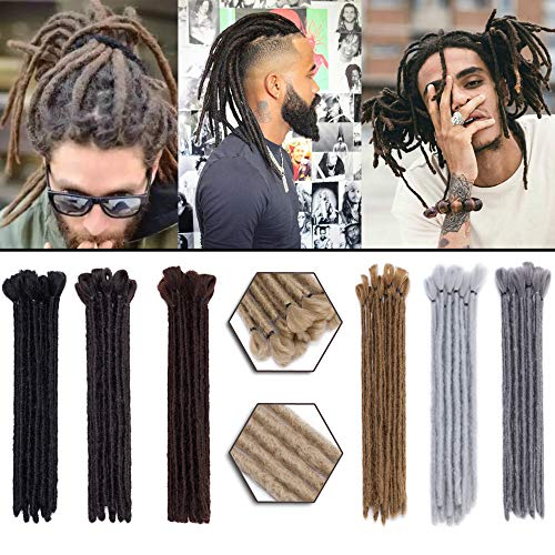 Dreadlocks Hair Extensions 12 Inch 30pcs Soft Crochet Twist Braiding Hair for Men Faux Locs Dread Hairpieces Reggae Hippie Style ()