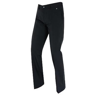 J. Lindeberg Men's Ellott Slim Micro Stretch Trousers, Black 32x30