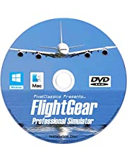 FlightGear Flight Simulator 2020 X Flight Sim Plane & Helicopter Including 600+ Aircraft DVD CD Disc Standard Edition Compatible with Microsoft Windows 11 10 8.1 8 7 Vista PC & Mac OS