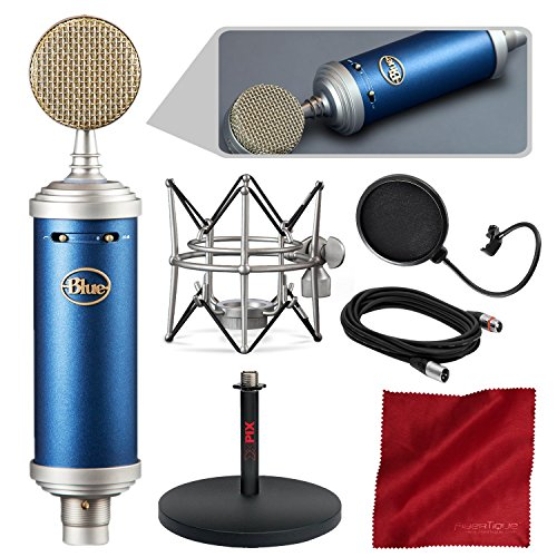 Blue Microphones Bluebird SL Large-Diaphragm Condenser Microphone with Mic Stand, Pop Filter, and Basic Bundle ()