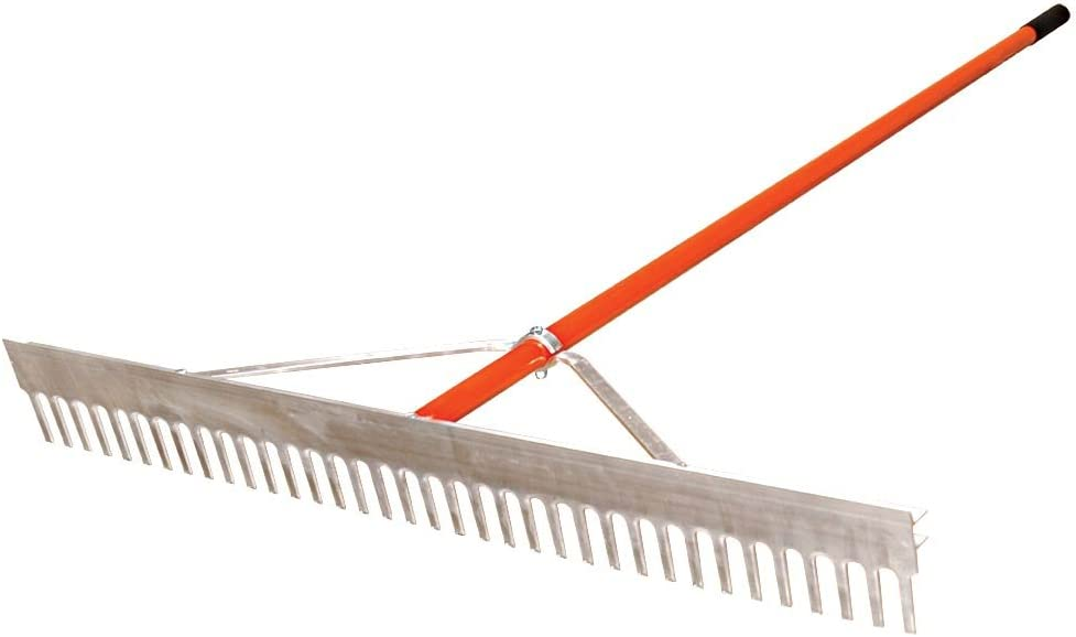 16.5 Inches Wide A.M 16 Teeth Leonard Straight Rake with Ash Handle