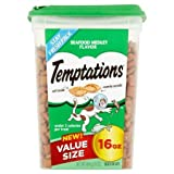 Cheap 1 Pack of TEMPTATIONS Classic Treats for Cats Seafood Medley Flavor 16 Ounces