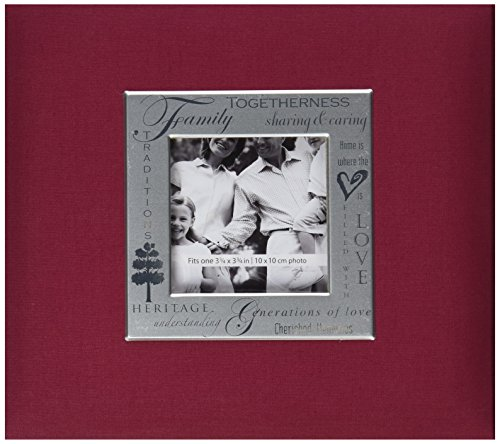 Expressions Scrapbook Album - MBI Expressions Post Bound Album, 8 by 8-Inch, Family, Burgundy