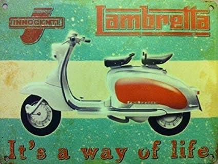 RKO Lambretta, It's a Way of Life Italian Scooter.-Parent - 9 x 6.5 cm (Magnet)