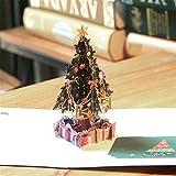 Yakke XMAS Decoration Merry Christmas Tree 3D Pop Up Greeting Card Laser Cut Envelope Postcard Vintage Customized Handmade Kiri