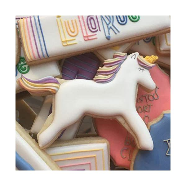 Ann Clark Cookie Cutters 3-Piece Fantasy Unicorn Cookie Cutter Set with Recipe Booklet, Unicorn Head, Unicorn, and… 6