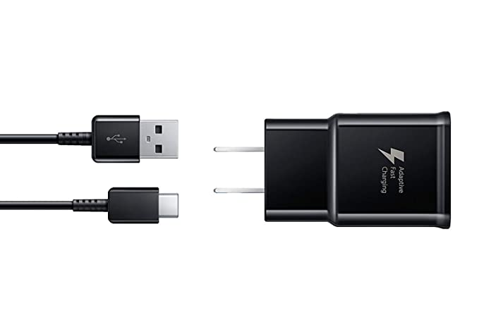 Samsung EP-TA20JBEUGUS Fast Charge USB-C 15W Wall Charger for Galaxy Note 8, 9, Galaxy S8, S8+, S9, S9+, S10, S10+, S10E Inbox Replacement - Retail ...
