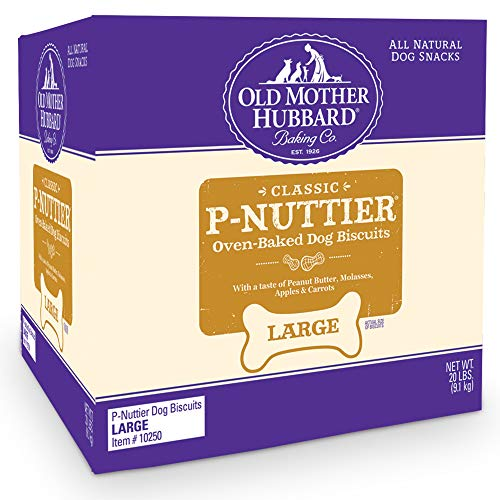 Old Mother Hubbard Classic Crunchy Natural Dog Treats, P-Nuttier Large Biscuits, 20-Pound (Large Dog Biscuits)