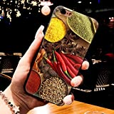 MISC Brown Red Hot Red Pepper iPhone 5 Case Vegetable Themed 5S Cover 5 SE Chili Pepper Solanaceae Spicy Seasoning Green Yellow Green, TPU