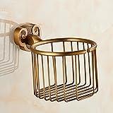SSBY European copper antique shelf paper towel basket